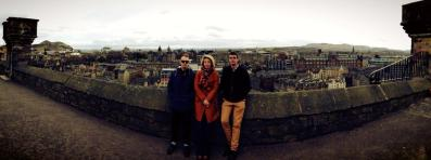 At an academic conference in Edinburgh, with Louise Carver and Jonas Bruun.